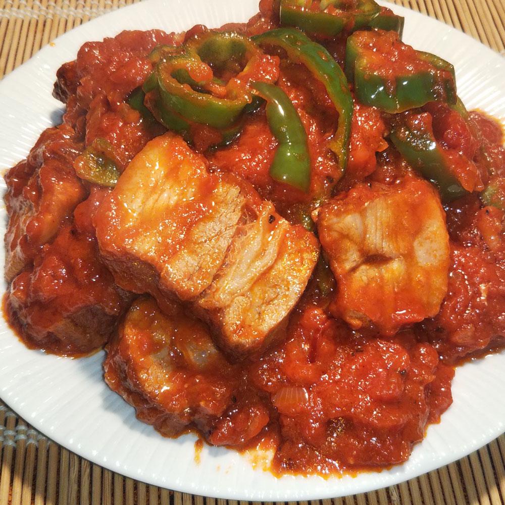 豚バラトマト煮